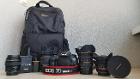 Зеркальный фотоаппарат Canon EOS 7D Mark II (Body)  + 4 объектива.