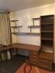 письменный стол с навесными полками и этажеркой