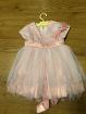 Платье нарядное для девочки.Цвет-персиковый.Размер 86