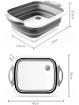 Новая раскладная доска пластиковая разделочная доска многофункциональная