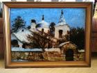 Картина, обрамлена деревянной рамкой, размер 79×59, Минск в Беларуси