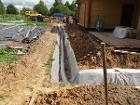 Отвод воды от фундамента (дренаж вокруг дома) в Бр