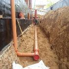 Монтаж ливневой канализации (отвод дождевой воды)