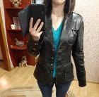 Черная куртка из натуральной кожи