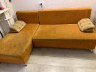 Диван угловой. раскладывается (размер спального места 150*200 см). имеет две большие ниши для белья и два съемных подлокотника