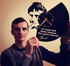 """Часы """"Высоцкий"""" из виниловой пластинки"""