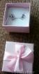 Детские серебряные сережки с вставками фианит