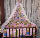 Кроватка-Маятник+8 предметов+Музыкальная карусель