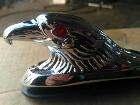 Орёл для мотоцикла хром светящиеся глаза новый