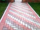 Тротуарная плитка Кирпичик, бордюры