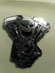 Значок для байкера Хранитель Двигателя металлический с закруткой